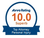 Avvo Rating: Top Attorney in Personal Injury